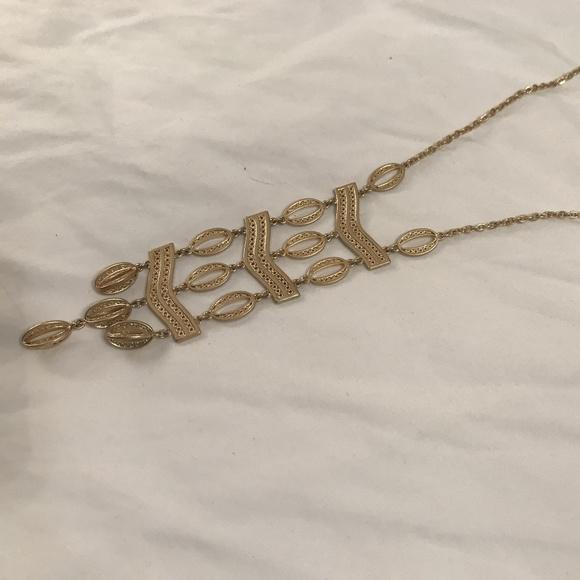 662632e9b3a Stella & Dot Jewelry | Stella Dot Long Gold Statement Necklace ...
